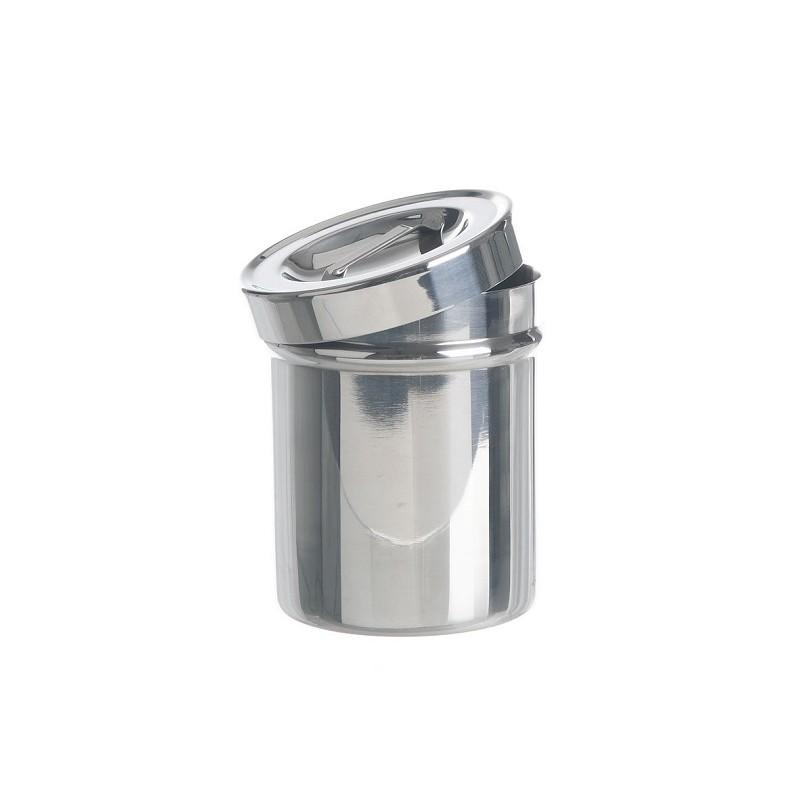 Büchse mit Griffdeckel 18/10 Stahl stapelbar Ø 124x165 mm