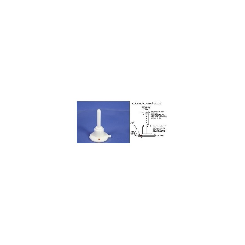 Gas sample bag 1L Tedlar 18x18 cm Locking PP Combo valve with