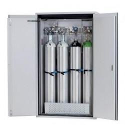 Gas cylinder cabinet G90.205.120 for four 50-liter-bottles grey