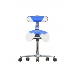Saddle stool with castors WS 3520 KL GMP RL (V) seat with