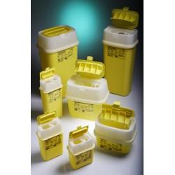 Entsorgungsbehälter mit aufklappbarem Deckel PP 3L gelb