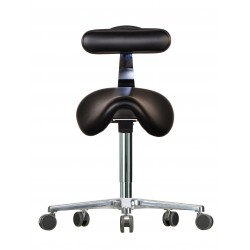 Saddle chair with castors WS3520 KLRL (V) seat with imitation
