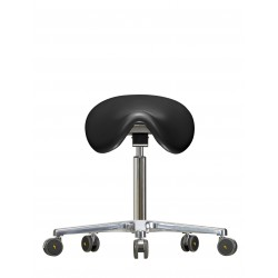 Saddle chair with castors WS3520 PU Classic seat with Soft-PU