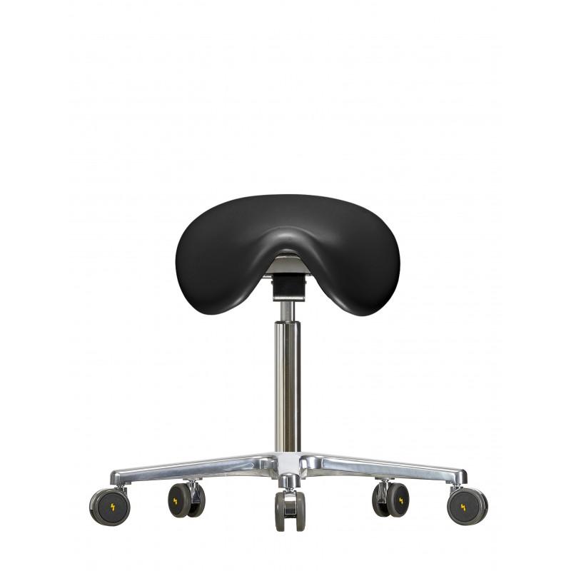 Stołek siodłowy na kółkach WS3520 PU Classic siedzisko Soft-PU