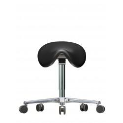 Sattel-Hocker WS3520 KL GMP Classic Kunstleder Fuß mit Rollen
