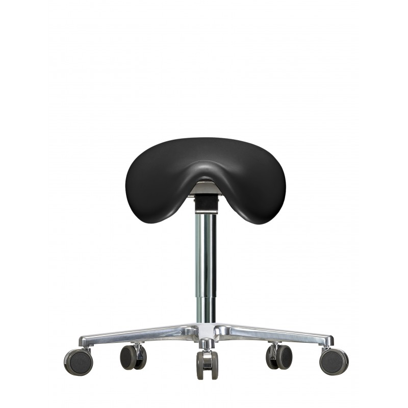 Saddle stool with castors WS3520 KL GMP Classic seat with