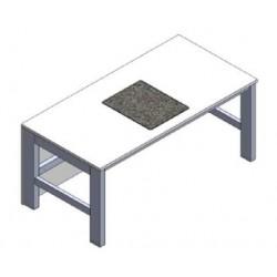 Stół mikroskopowy stała wys. pasywne tłumienie drgań mit granit