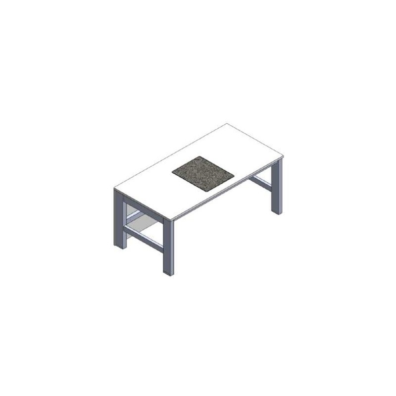 Microscopic table fixed height passive vibration damping
