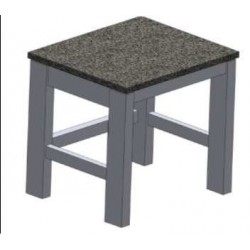 Microscopic table vibration damping with granite top - worktop