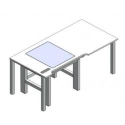 Mikroskoptisch Tisch in Tisch aktive Schwingungsdämpfung