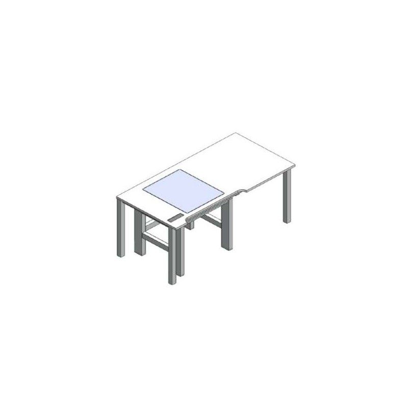Microscope table table-in-table active vibration max. damping