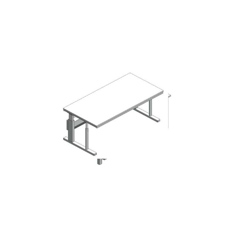 Microscope table adjustable in height without vibration damping