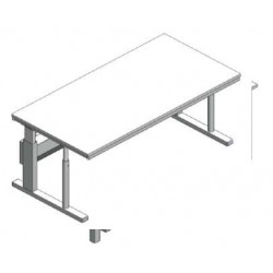 Stół mikroskopowy regulowana wysokość bez tłumienia drgań SxGxW