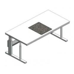 Stół mikroskopowy regulowana wysokość tłumienie drgań granit