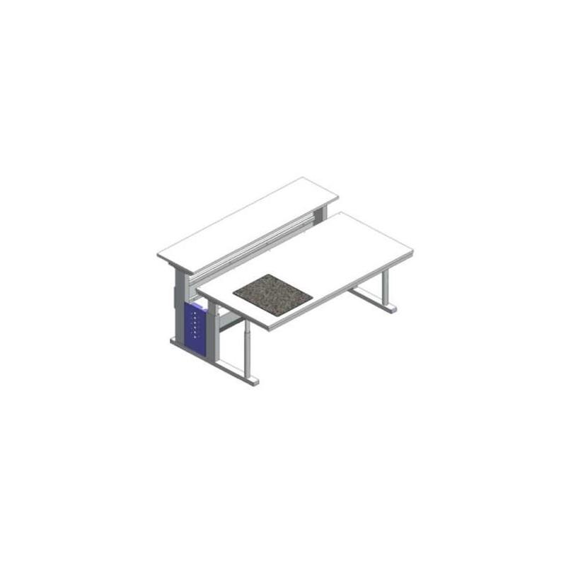 Microscope stage adjustable vibration damping granite WxDxH