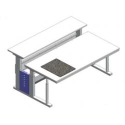Stół mikroskopowy regulowana wys. tłumienie drgań granit SxGxW