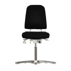 Chair with glides Klimastar WS9310 seat/backrest with fabric