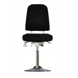 Chair with disc base Klimastar WS9310 TPU seat/backrest with