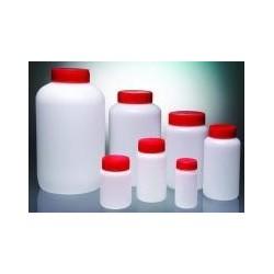 Butelka okrągła PEHD 250 ml szerokoszyjna zakrętka Ø37 czerwony