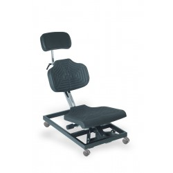 Overhead work chair WS1280 seat/backrest with Soft-PU black