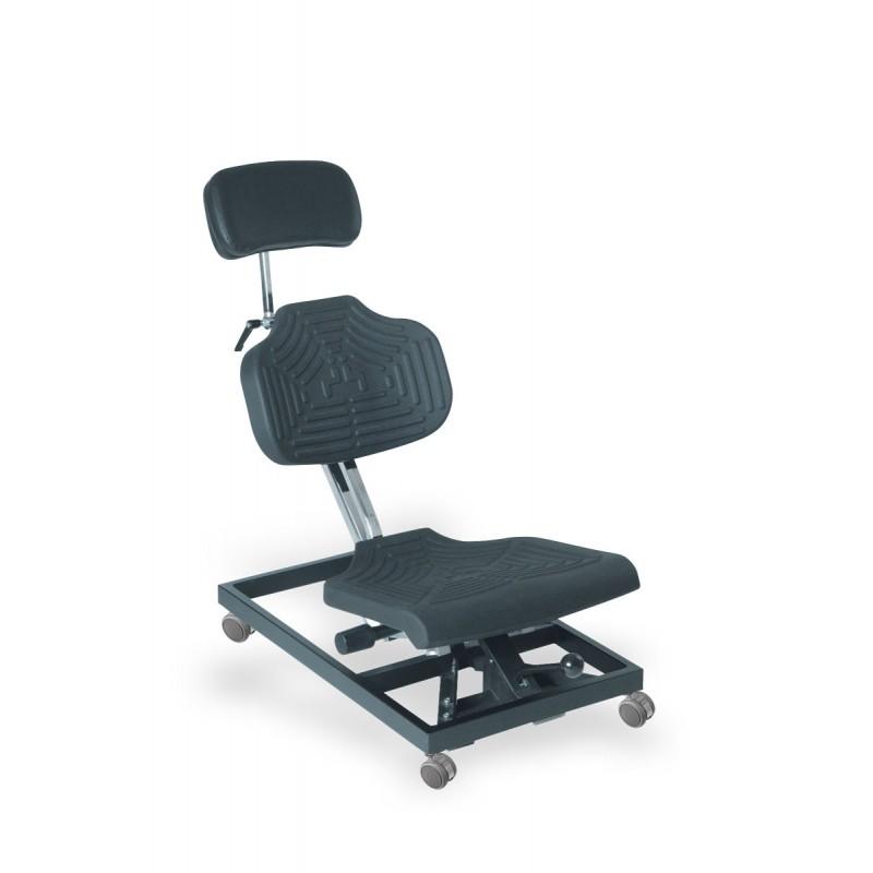 Krzesło do pracy w pozycji leżącej WS1280 siedzisko/oparcie z