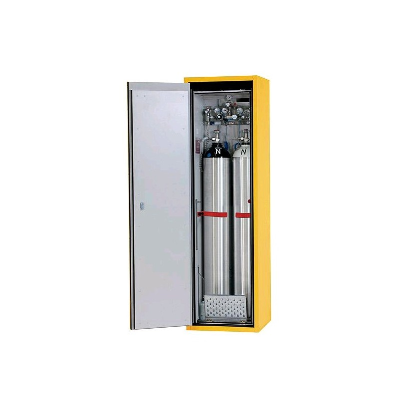 Gas cylinder cabinet G90.205.60 for one 50-liter-bottles grey