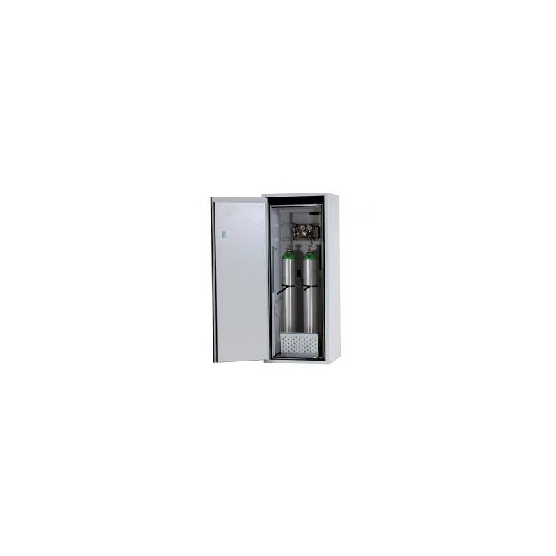 Gas cylinder cabinet G90.145.060 for 2 x 10 L bottles grey