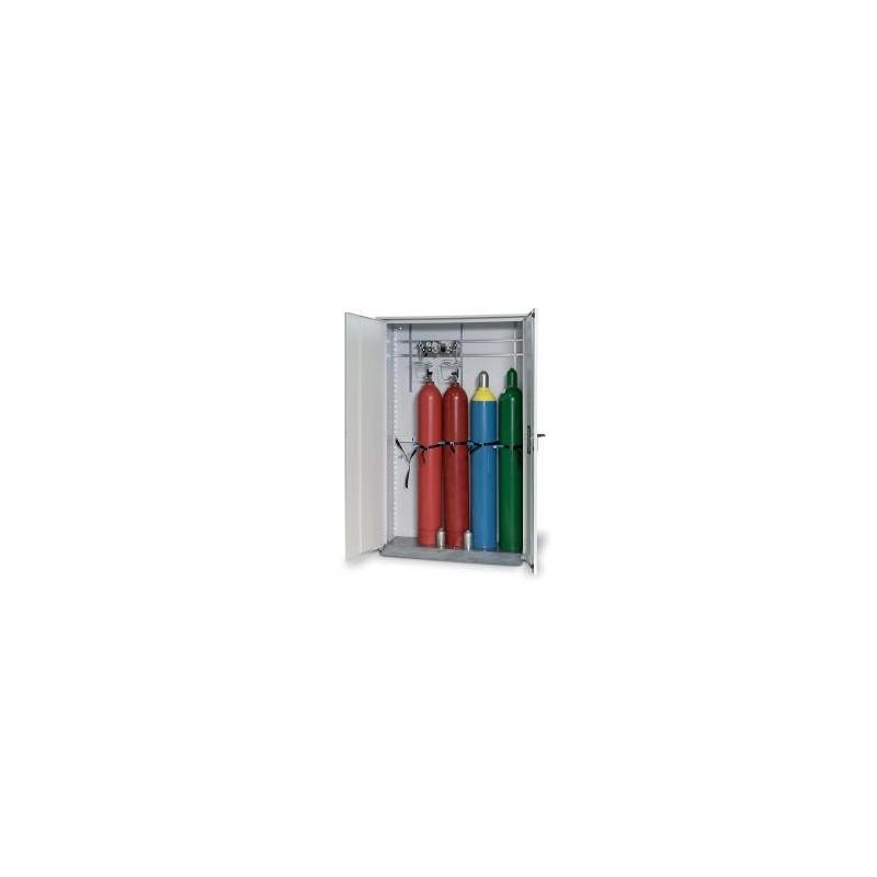 Gas cylinder cabinet GOD.215.135WDFW for five 50 L bottles grey