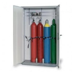Gas cylinder cabinet GOD.215.135WDHW for five 50 L bottles grey