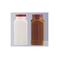 Butelka czworokątna szerokoszyjna PE-HD 2000 ml z zakrętką GL77
