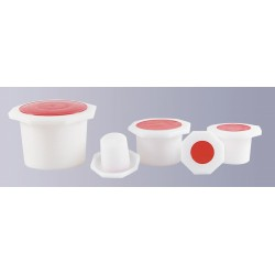 Octagonal Stopper plastic NS 14/15 PE-HD pack 10 pcs.