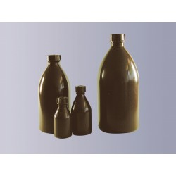 Narrow mouth bottle PE-LD 100 ml brown without cap GL18