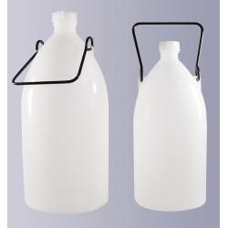 Narrow mouth storage bottle PE-HD 3000 ml with screw cap GL32