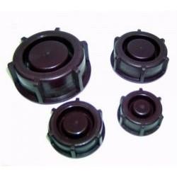 Srew cap PE-LD brown GL40 pack 10 pcs.