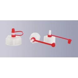 Tropfflaschenaufsatz PE-LD mit Halteband und Kappe kurze