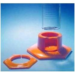 Kunststofffuß für Messzylinder mit Schutzring 25 ml grün VE 10