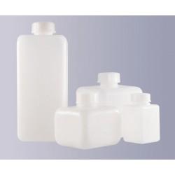 Butelka czworokątna wąskoszyjna PE-HD 250 ml bez zakrętki GL28