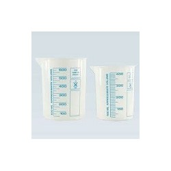 Griffin beaker PP 1000 ml highly transparent printed blue scale