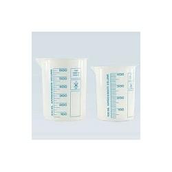 Griffinbecher PP 50 ml hochtransparent gedruckte blaue Skala VE