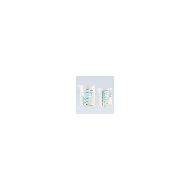 Griffinbecher PP 600 ml hochtransparent gedruckte blaue Skala
