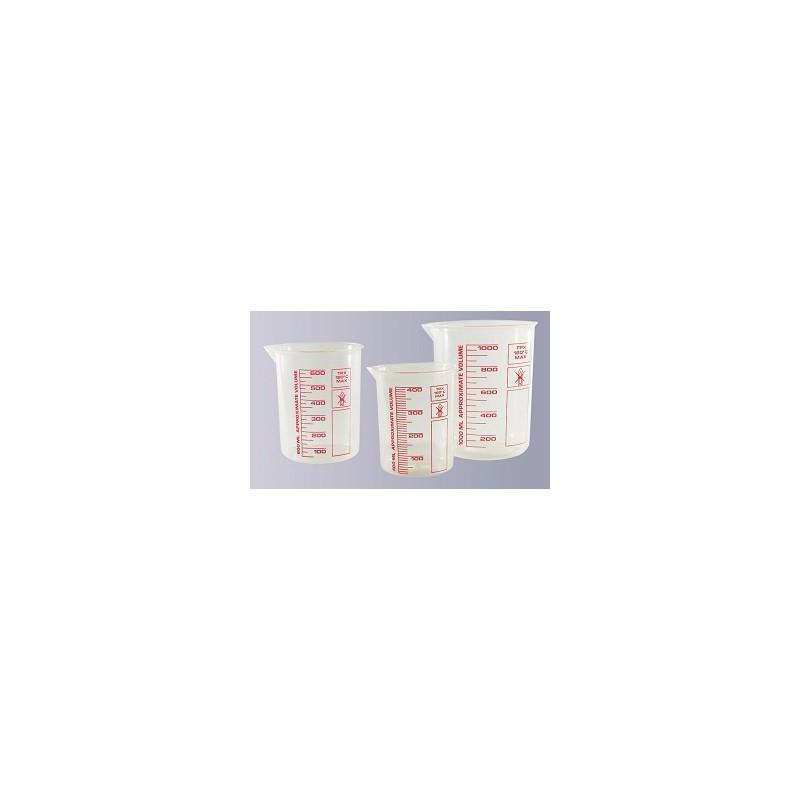 Griffinbecher TPX 1000 ml hochtransparent gedruckte rote Skala