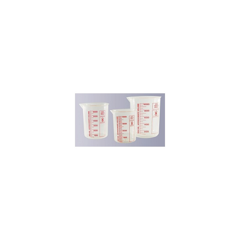 Griffin beaker 25 ml highly transparent printed red scale pack