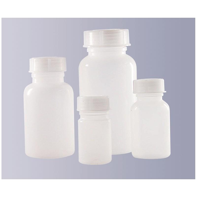 Vierkantflasche weithals PE-HD 30 ml ohne Verschluss GL28