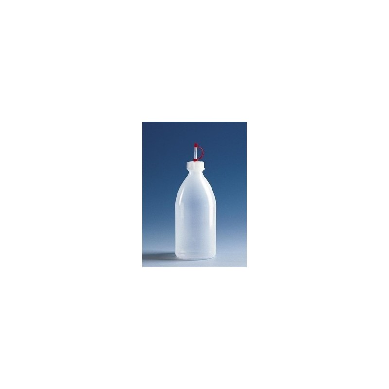 Dropping bottle narrow mouth PE-LD 750 ml with dropper cap GL28