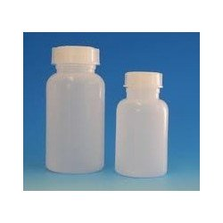 Wide mouth bottle 50 ml PP autoclavable with screw cap GL32