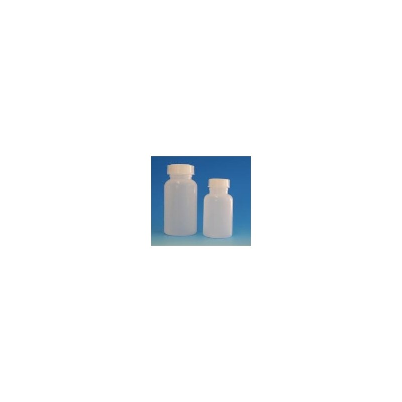 Weithalsflasche 50 ml autoklavierbar PP mit Schraubverschluss