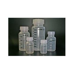 Wide mouth bottle PP 1000 ml with scale autoclavable with screw