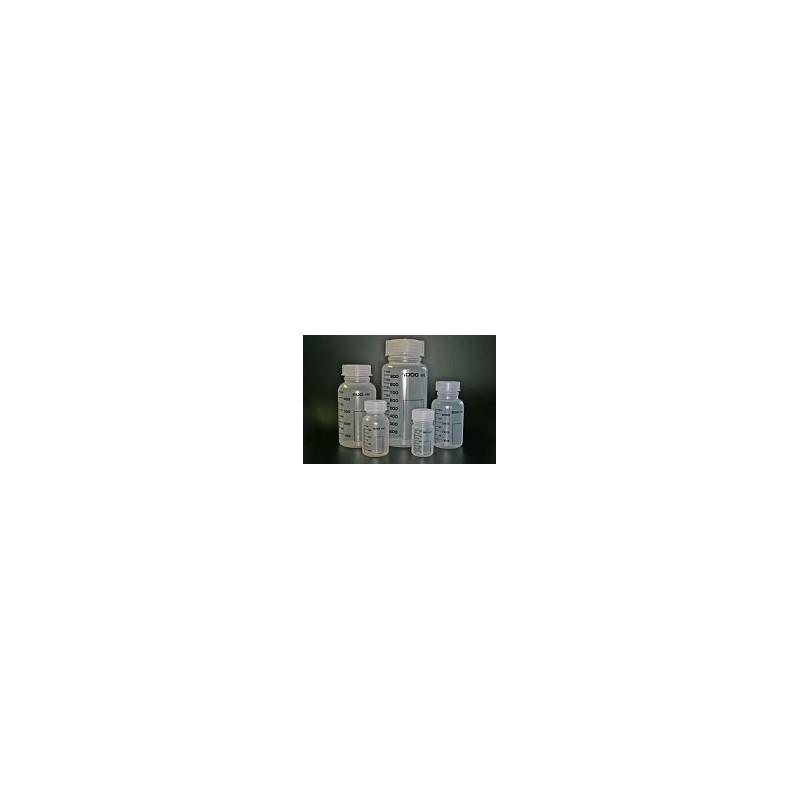 Butelka z szeroką szyjką PP 1000mL z skalą z zakrętką GL65