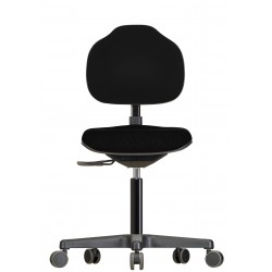 Chair with castors Econoline WS2320 seat/backrest with fabric