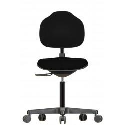 Krzesło na kółkach Econoline WS2320 siedzisko/oparcie z tkaniny